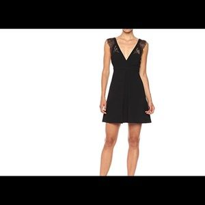 BCBGeneration black dress with lace trim